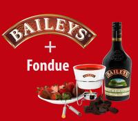 Promoción baileys más fondue de regalo