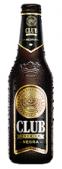 Botella cerveza club negra