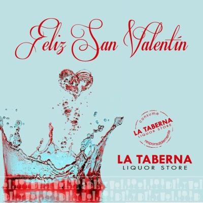 Feliz San Valentín La Taberna liquor store