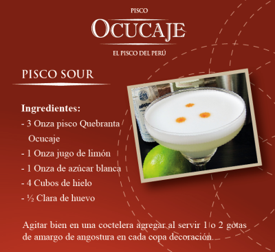 Preparación Cóctel Pisco Sour