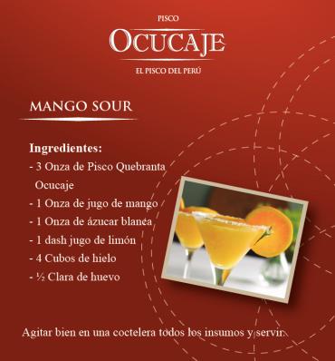 preparación Cóctel Mango Sour
