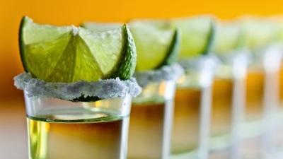 Tequilas en la taberna